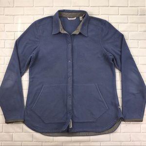 Women's Toad & Co Fleece Jacket Sz L Button Up